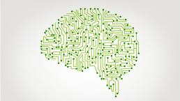 cerebro interconectado simulando inteligencia artificial