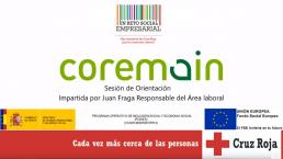 cartel de la formacion impartida por Juan Fraga, de Coremain, para Cruz Roja