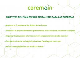 gráfica con puntos claves del plan españa digital 2025
